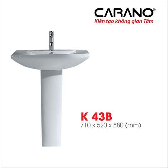 CHẬU RỬA CARANO CHÂN DÀI K43B ( LAVABO MODEL: K43B )