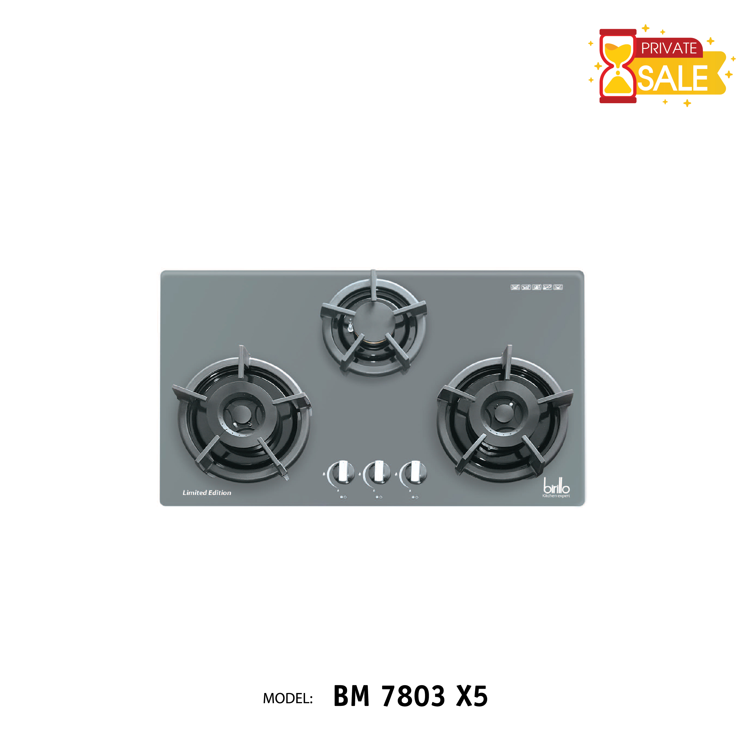 Bếp Gas âm Birillo - Model BM7803X5