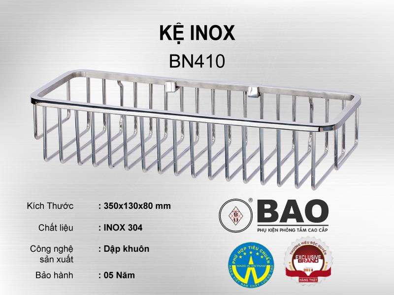 KỆ INOX MODEL BN410