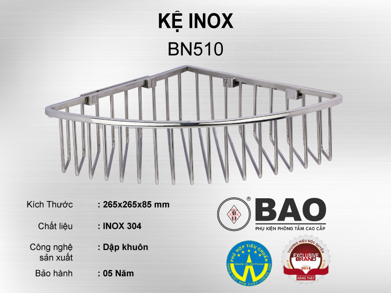 KỆ INOX MODEL BN510