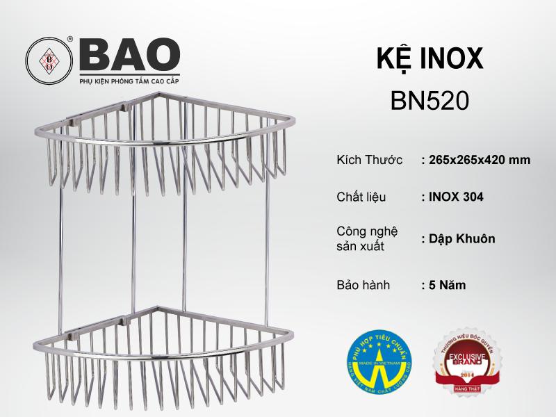 KỆ INOX MODEL BN520
