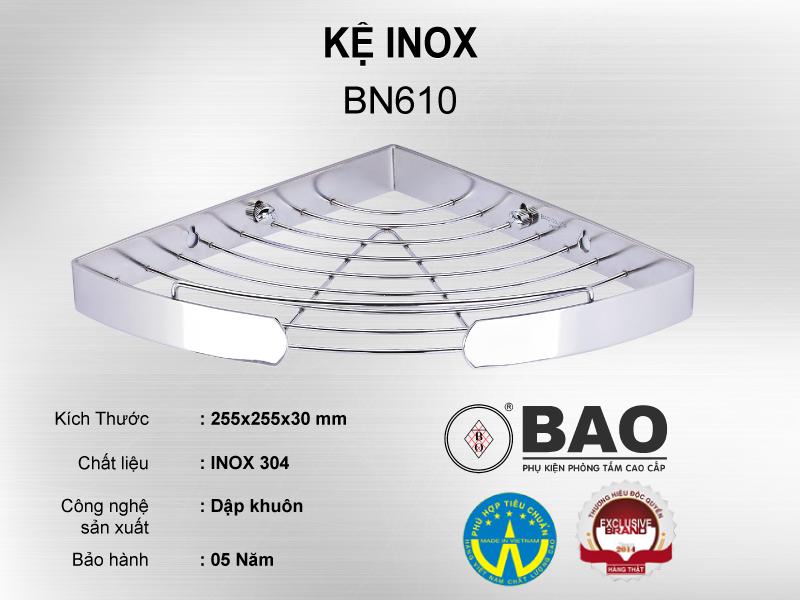KỆ INOX MODEL BN610