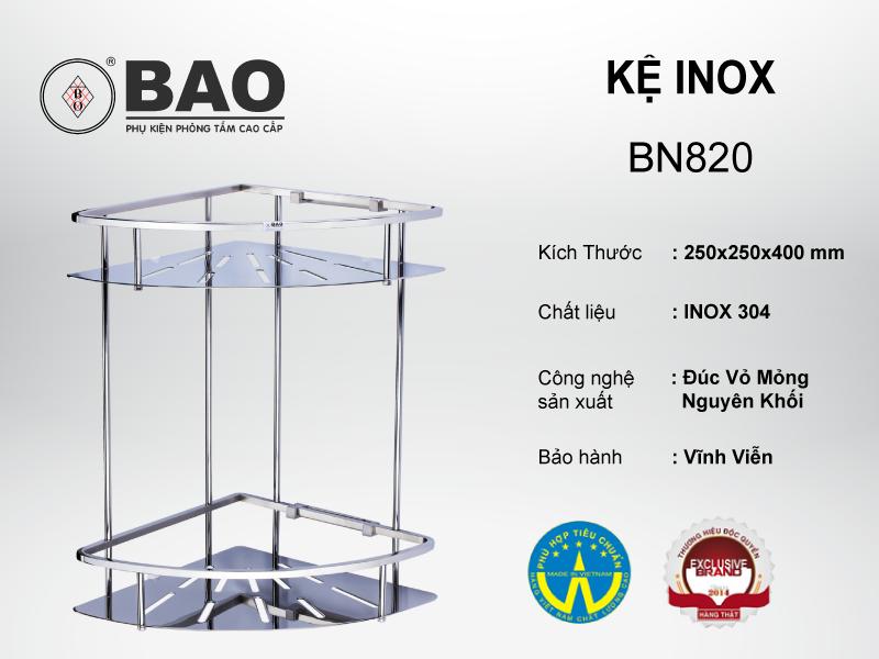 KỆ INOX MODEL BN820