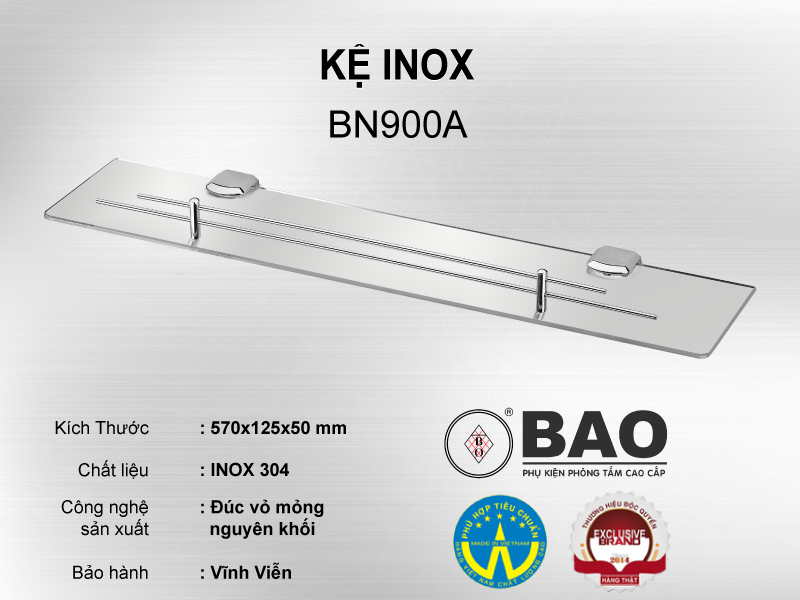 KỆ INOX MODEL BN900A