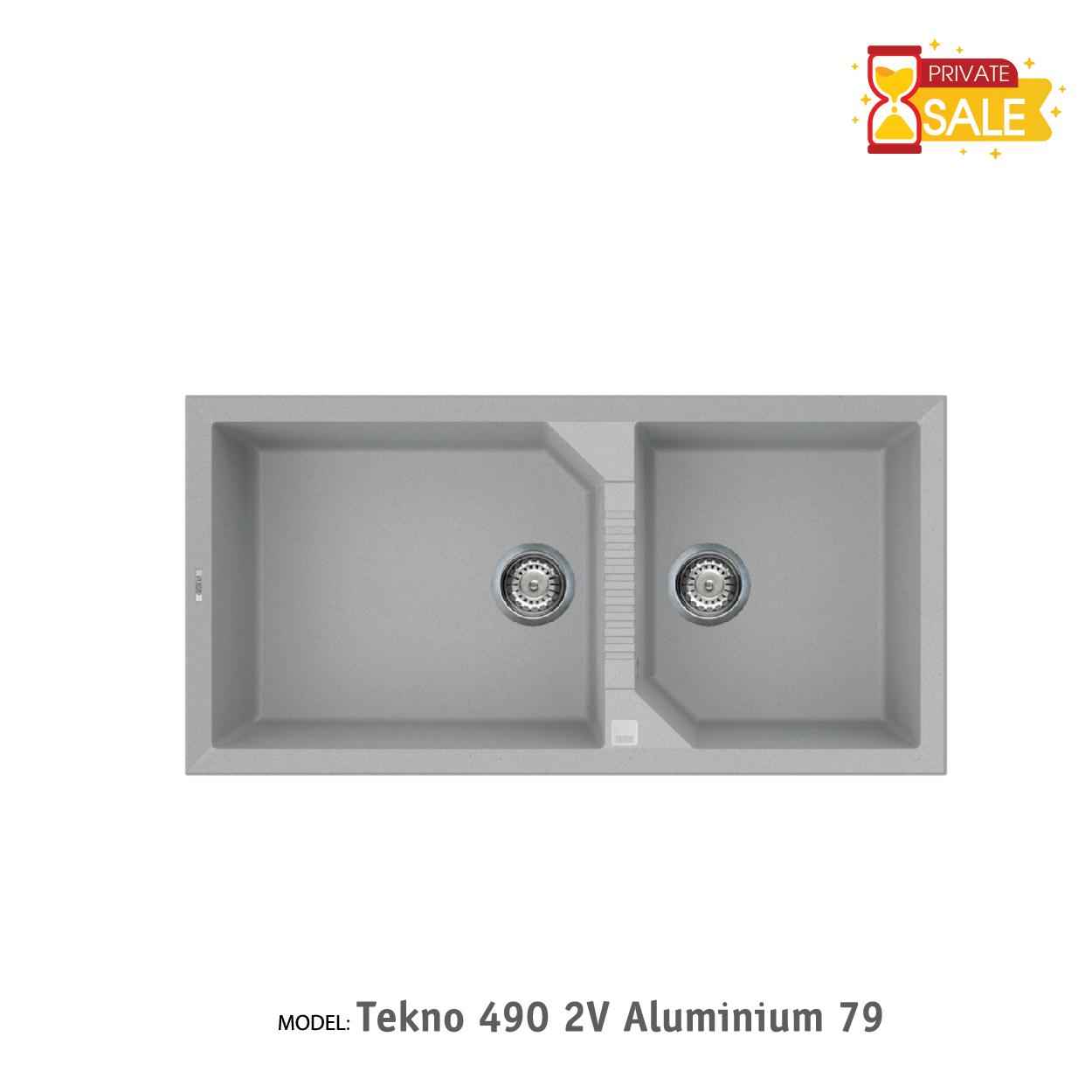 Chậu đá Elleci - Model Tekno 4902V Aluminium79