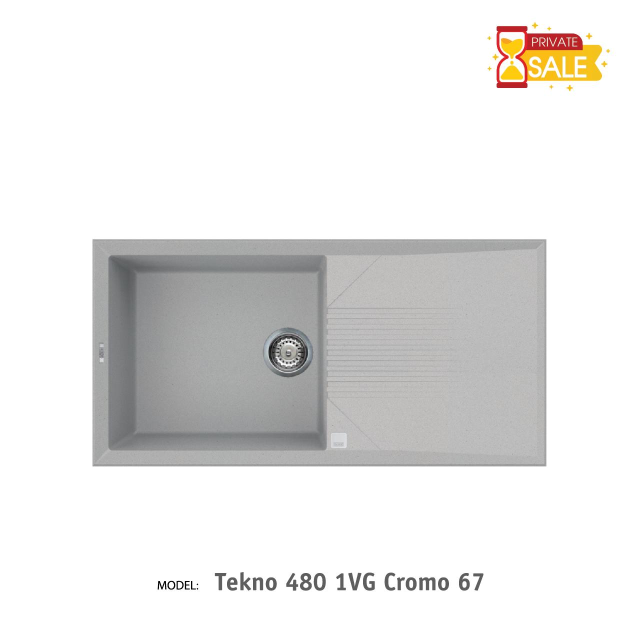 Chậu đá Elleci - Model Tekno 4801VG Cromo67