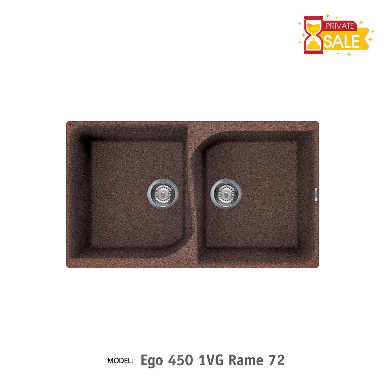 Chậu đá Elleci - Model Ego 4501VG Rame72