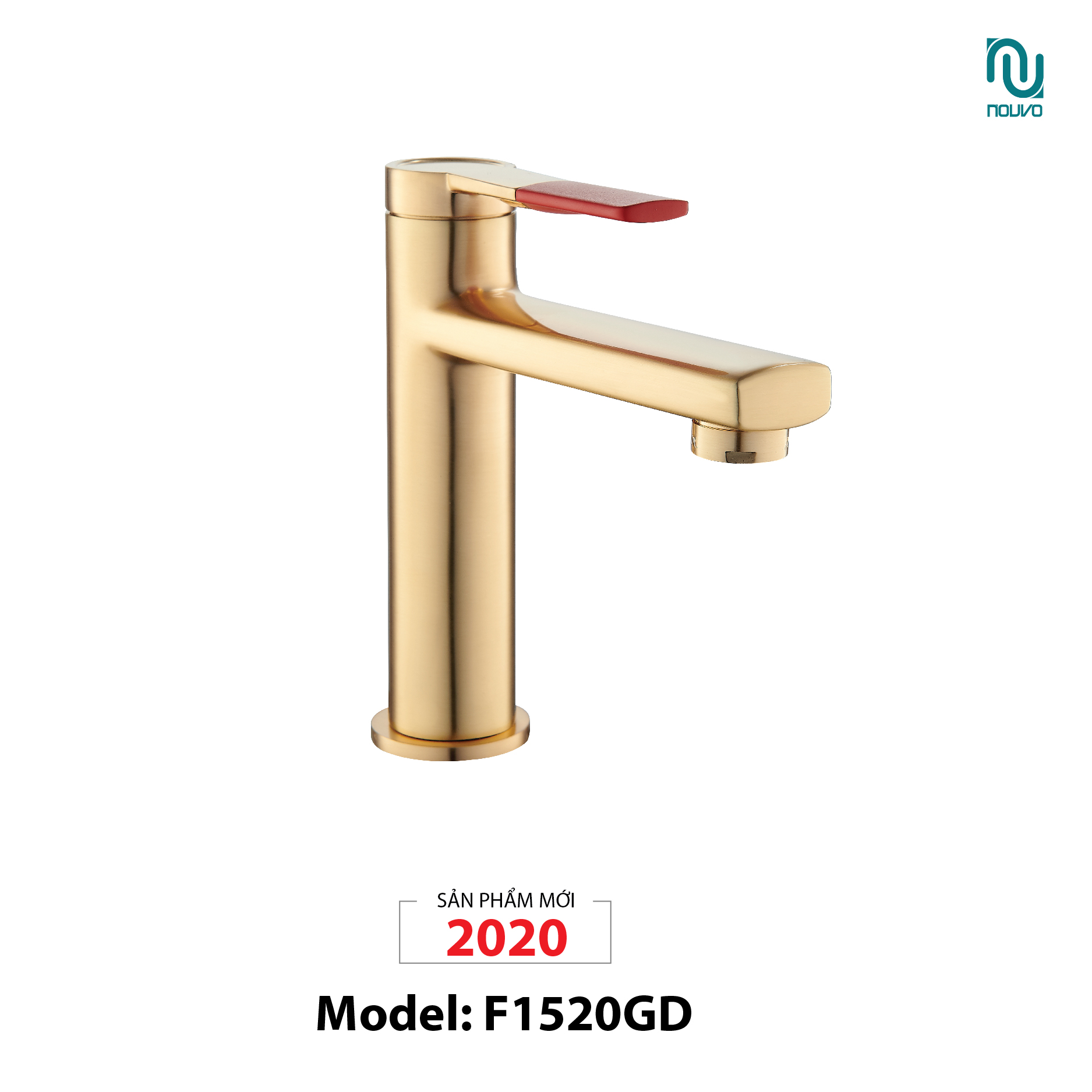VÒI LAVABO NOUVO MODEL F1520GD (VÒI LAVABO MODEL F1520GD)
