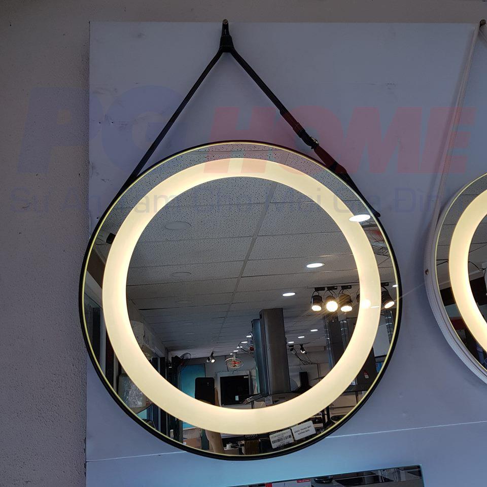 Gương đèn led dây da đen - MODEL 20010