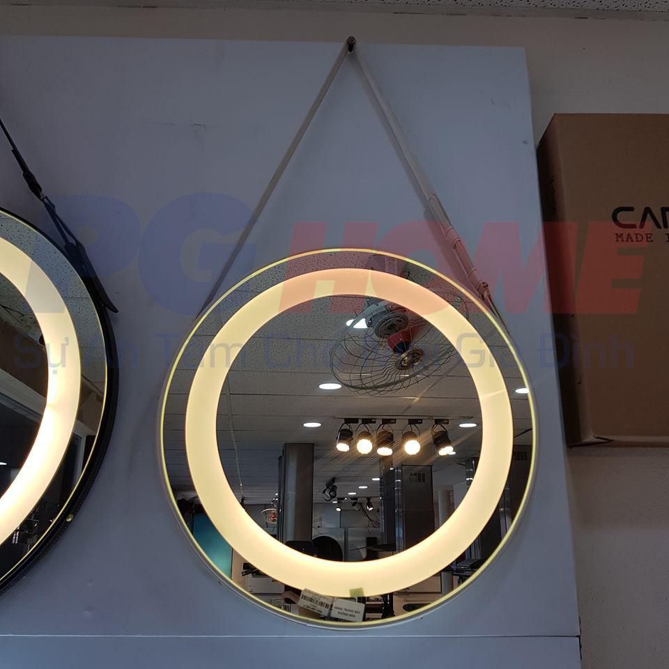 Gương đèn led dây da trắng- MODEL 20006