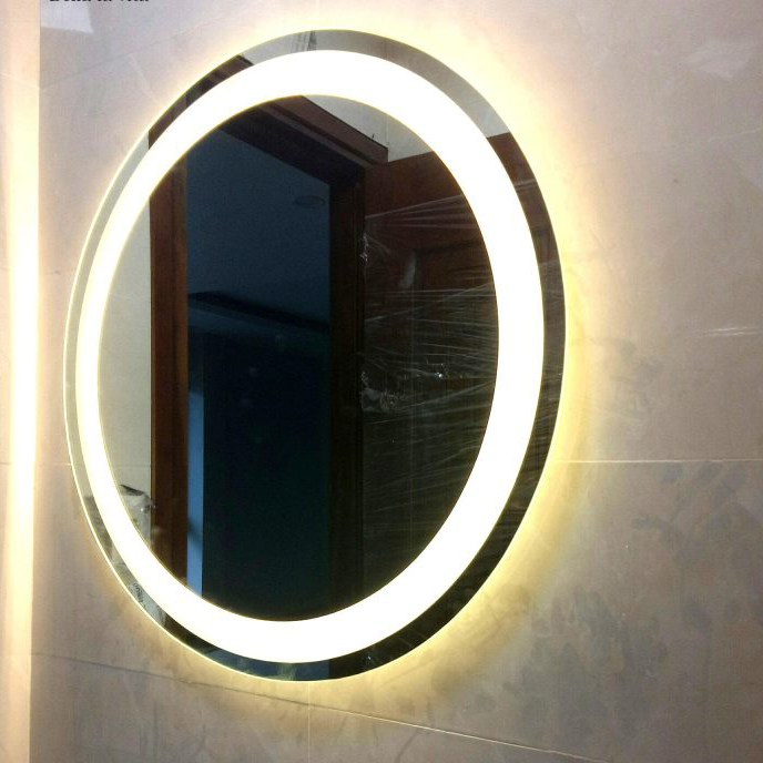 Gương đèn led vành trong ánh sáng vàng - MODEL 20016