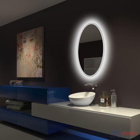 Gương đèn led oval ánh sáng trắng - MODEL 20028