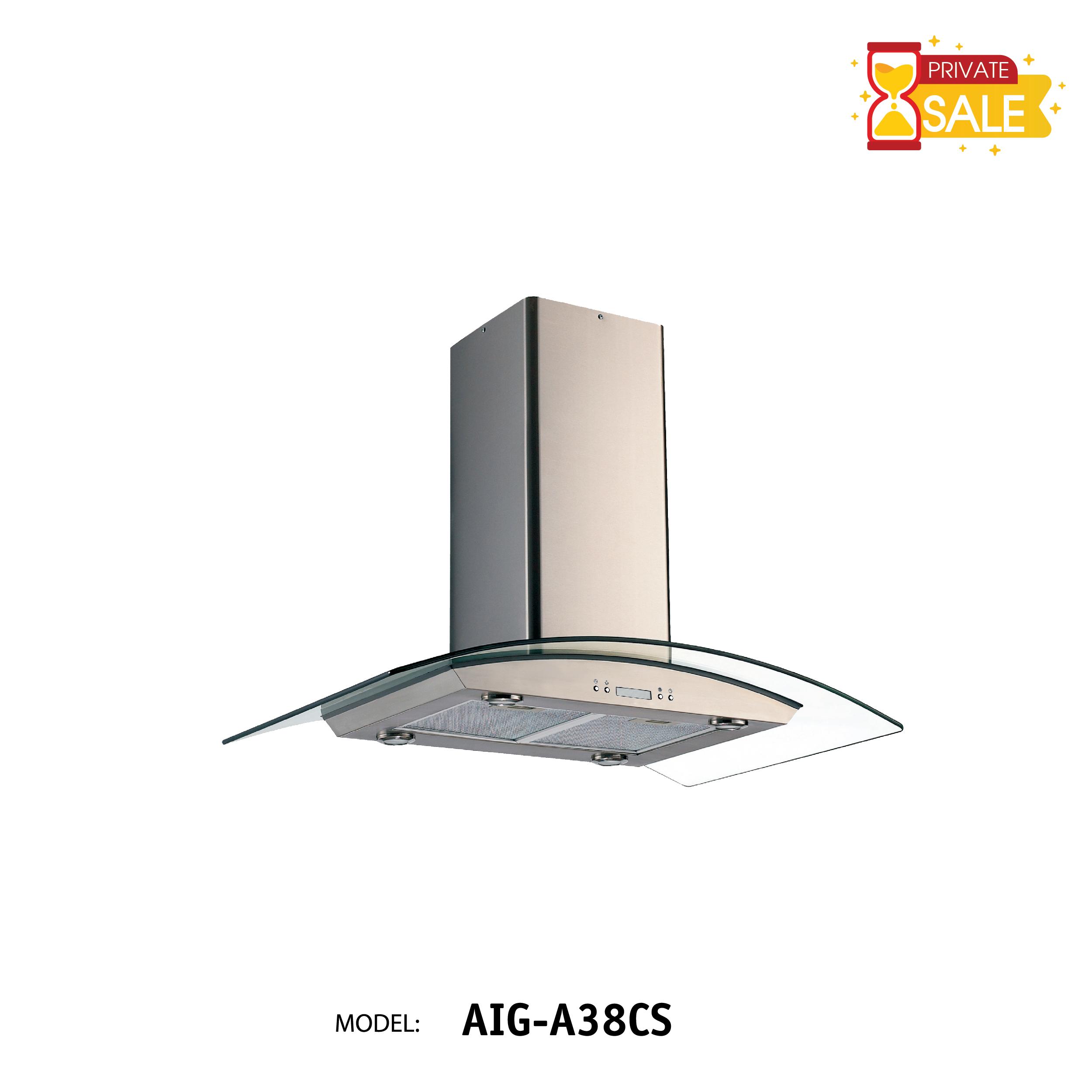 Máy hút mùi áp tường Birillo - Model AIGA38CS