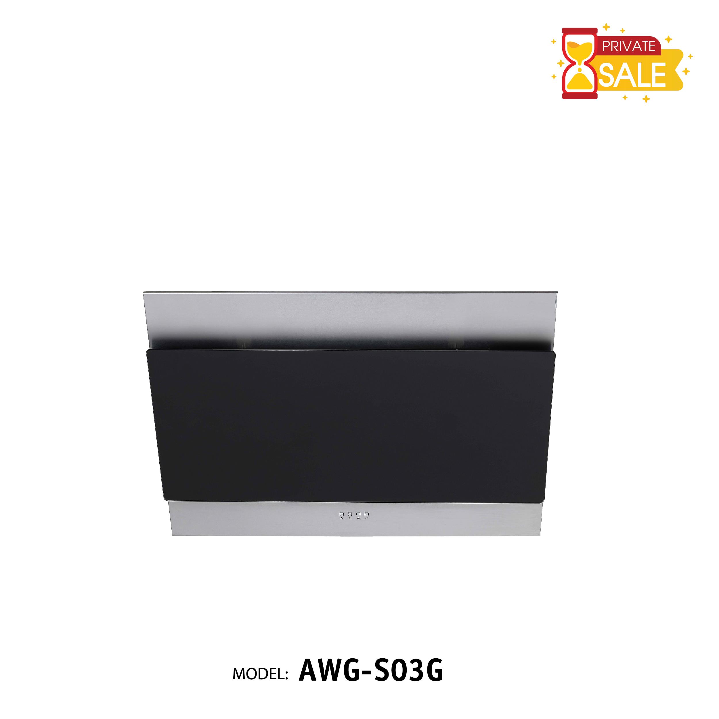 Máy hút mùi áp tường Birillo - Model AWGS03G