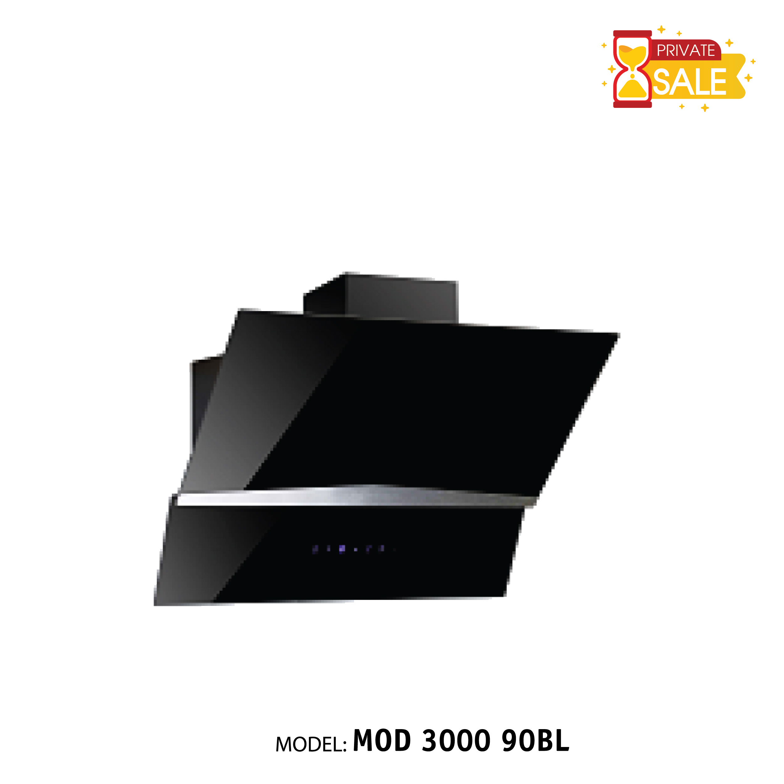 Máy hút mùi áp tường Birillo Model MOD300090BL