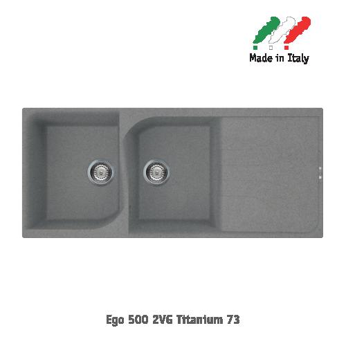 Chậu đá Elleci - Model Ego 5002VG Titanium73
