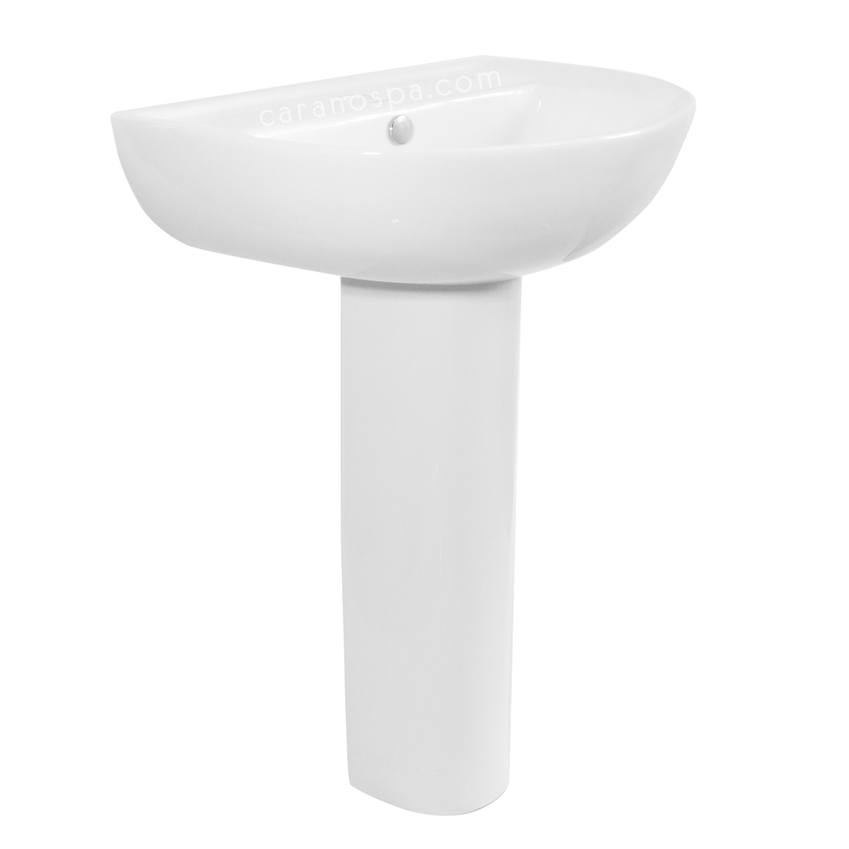 CHẬU RỬA CARANO CHÂN DÀI K48B (lavabo model: K48B)