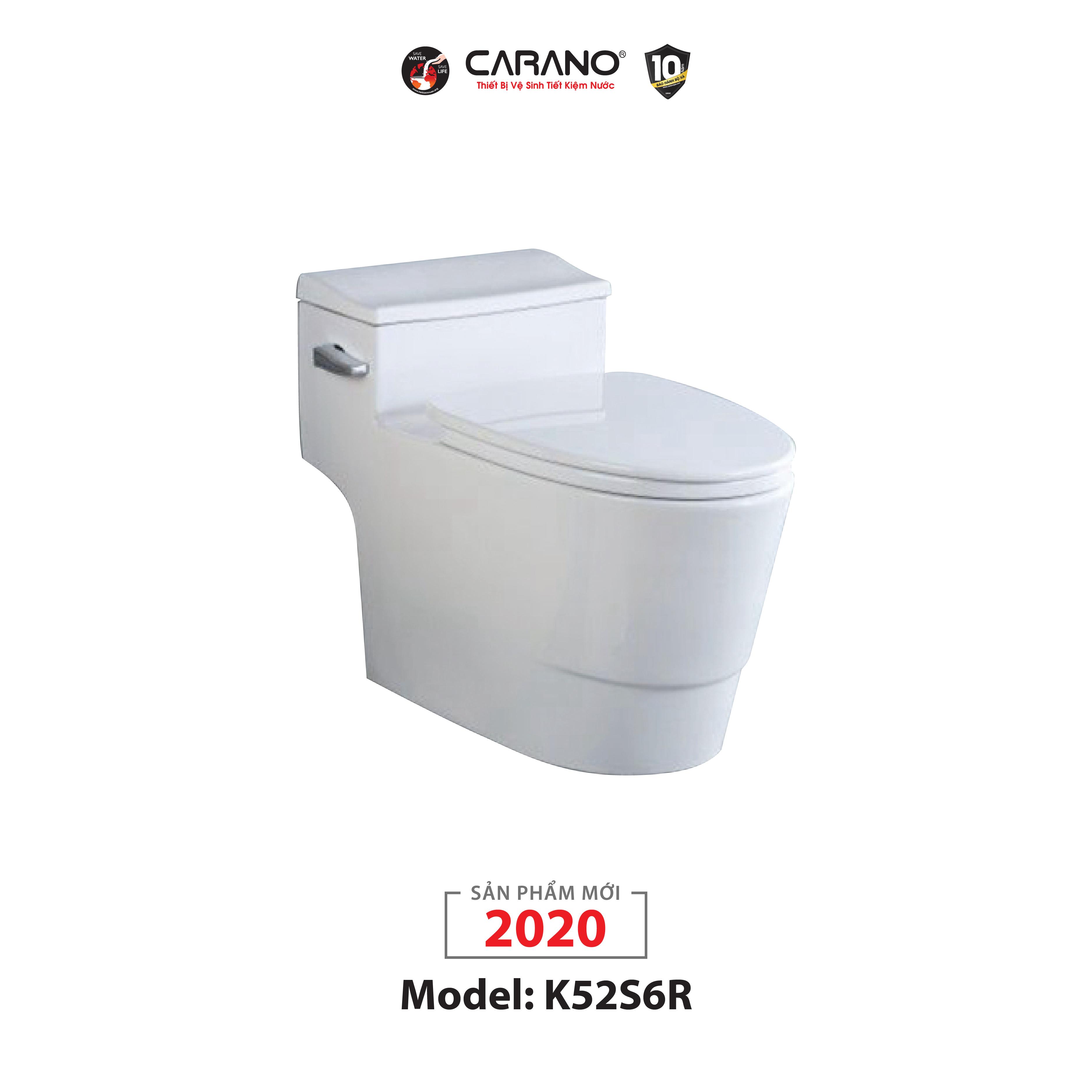 BỒN CẦU CARANO 1 KHỐI K52S6R (TOILET MODEL: K52S6R)