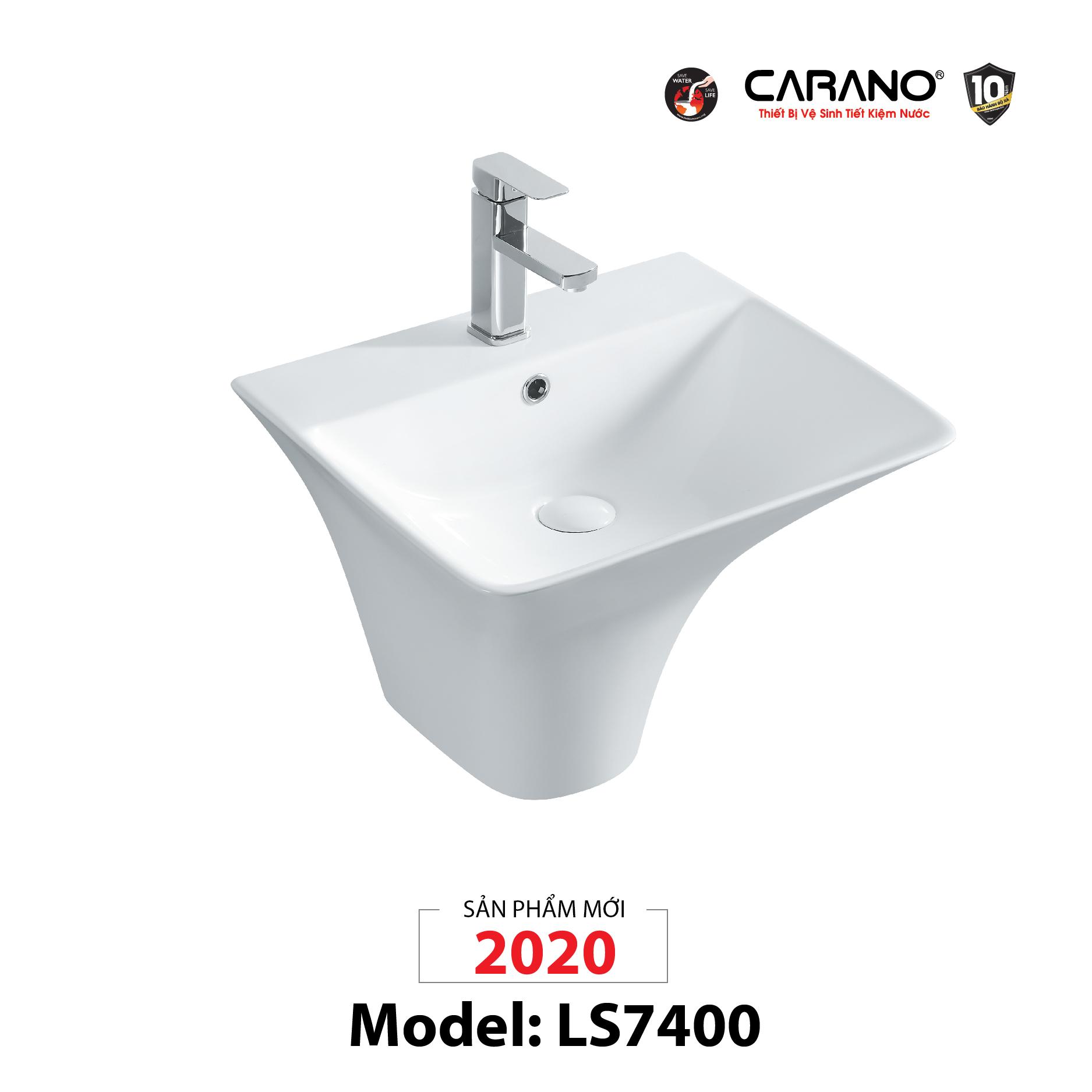 LAVABO TREO TƯỜNG CARANO MODEL LS7400 (MODEL LS7400)