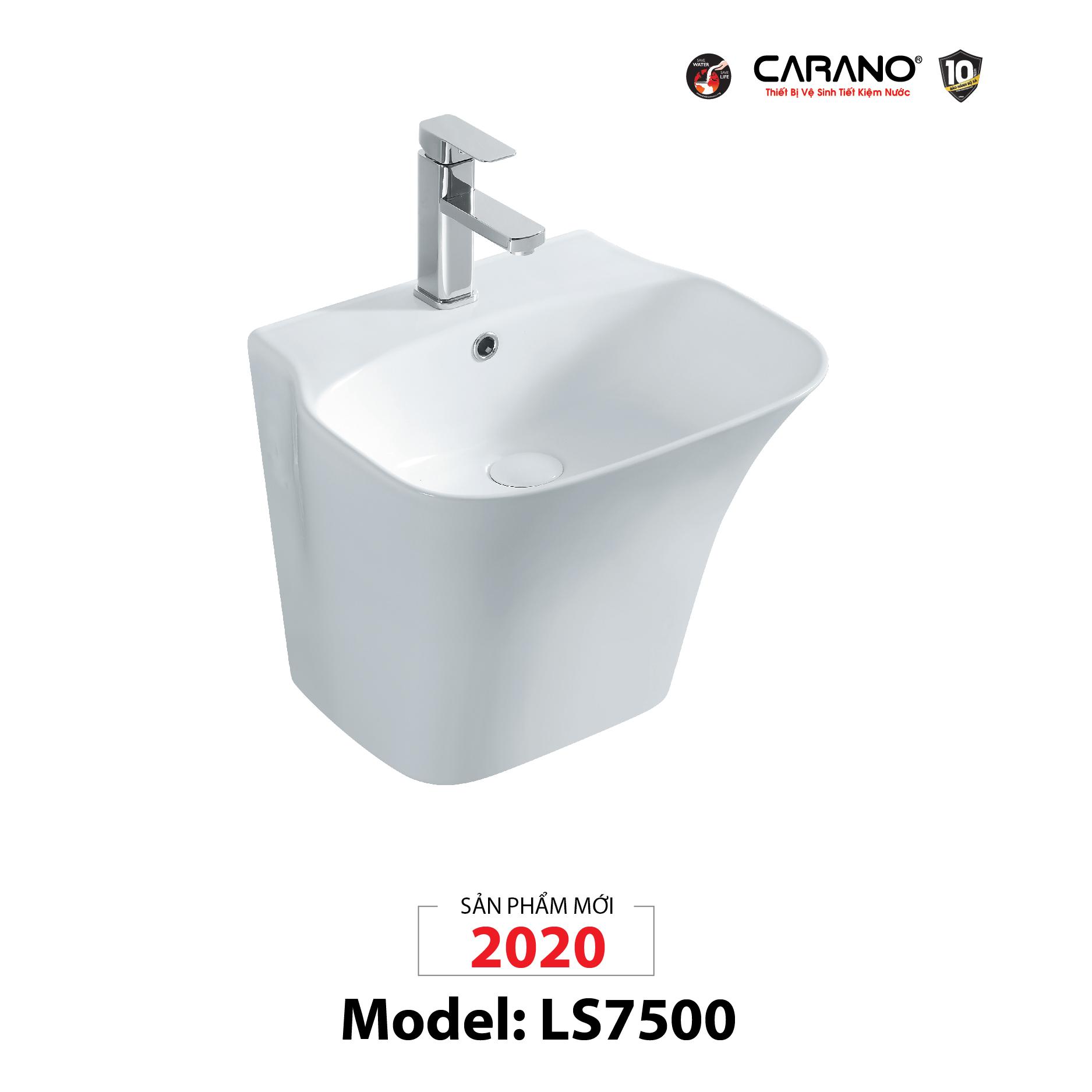 LAVABO TREO TƯỜNG CARANO MODEL LS7500 (MODEL LS7500)