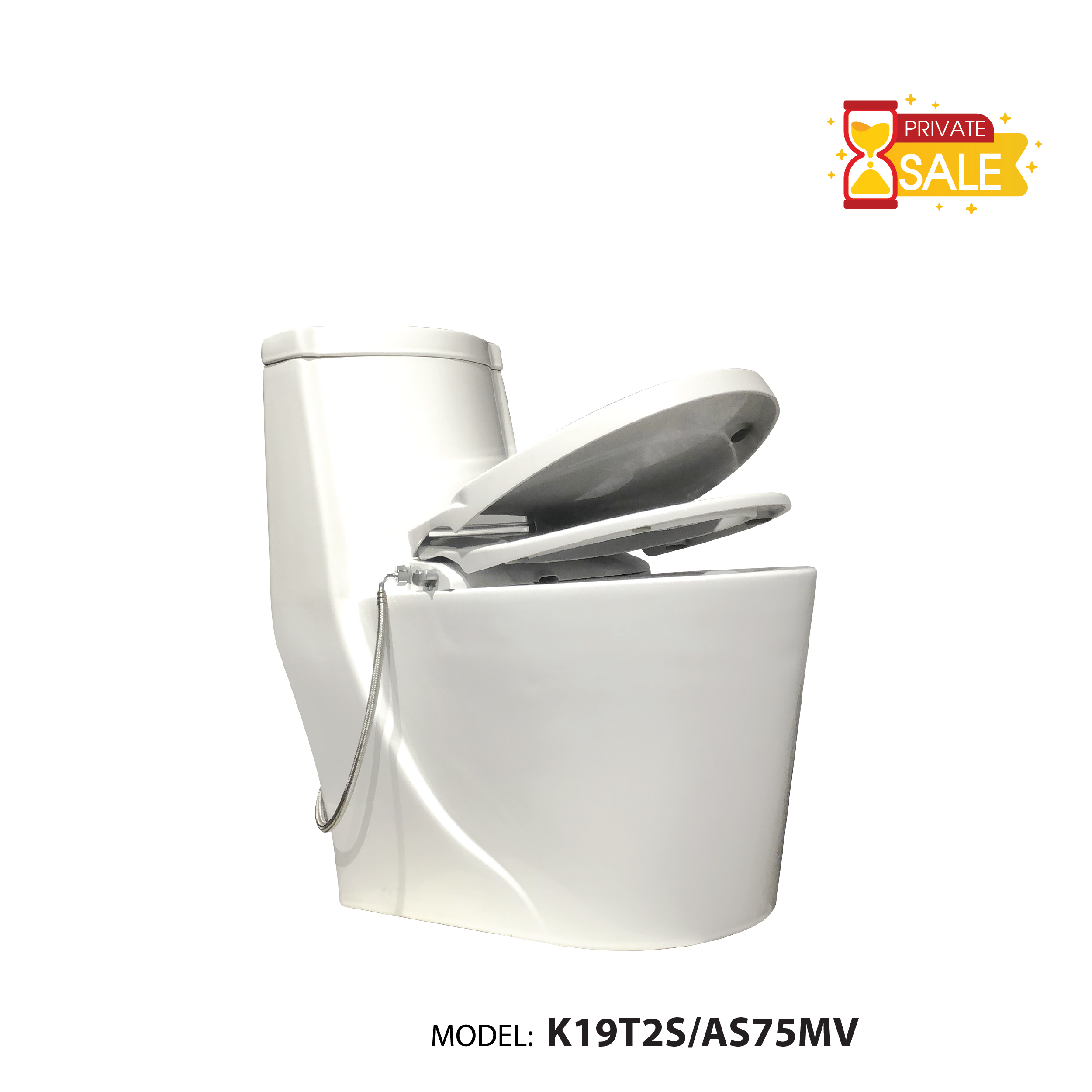 BỒN CẦU 1 KHỐI CARANO K19T2S/AS75MV ((TOILET MODEL: K19T2S/AS75MV)