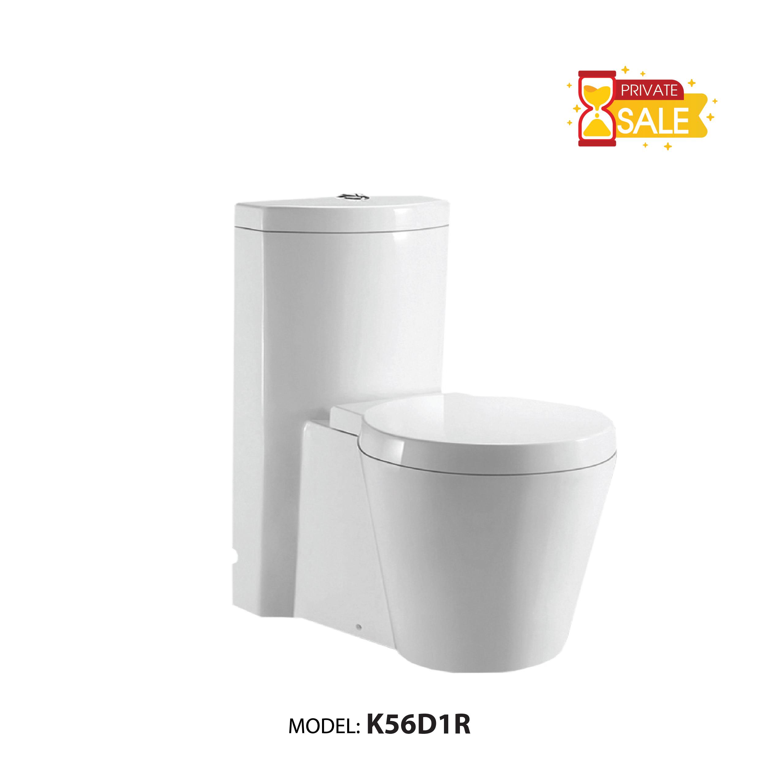 BỒN CẦU CARANO 1 KHỐI K56D1R (TOILET MODEL: K56D1R)
