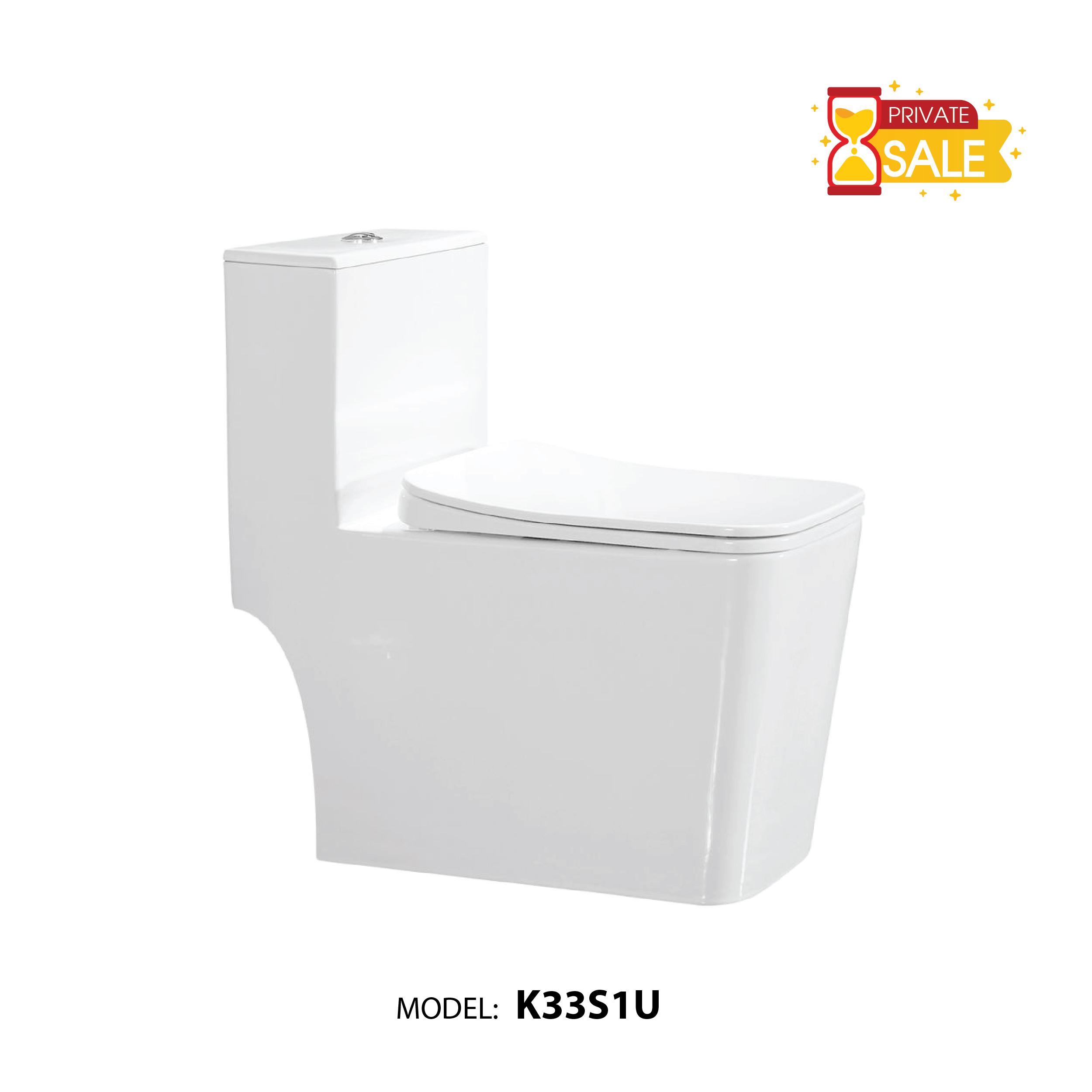 BỒN CẦU CARANO 1 KHỐI K33S1U (TOILET MODEL: K33S1U)