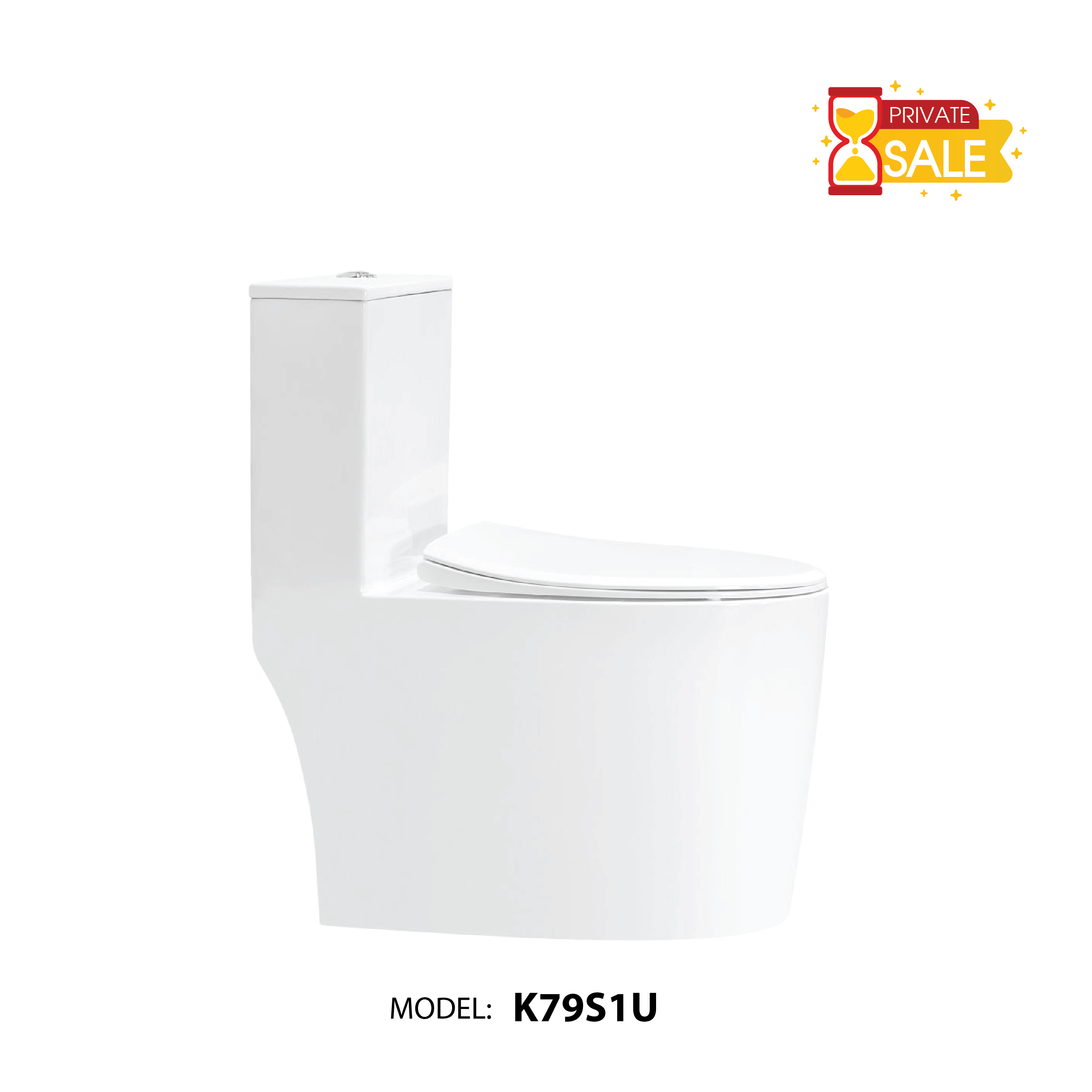 BỒN CẦU CARANO 1 KHỐI K79S1U (TOILET MODEL: K79S1U).