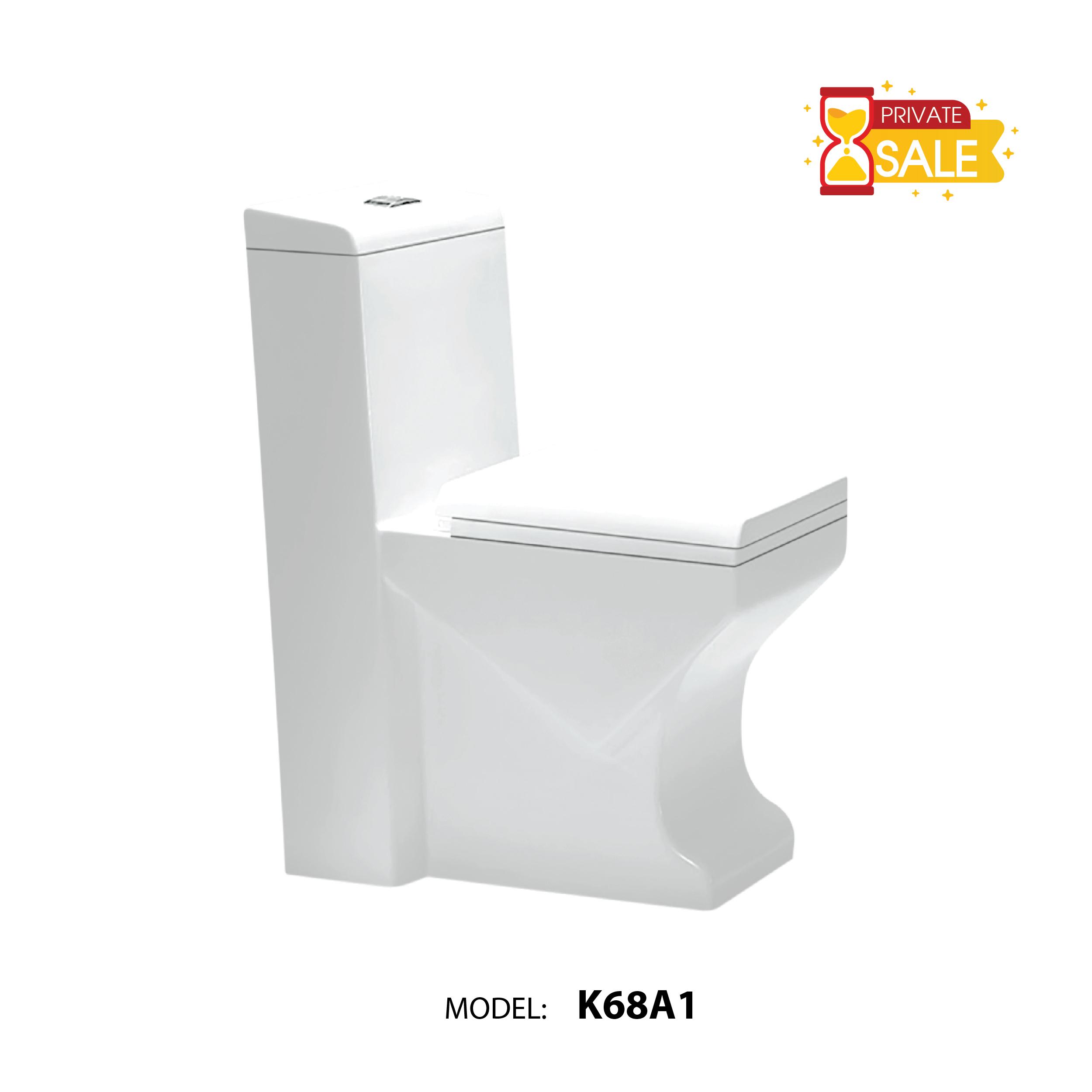 BỒN CẦU CARANO 1 KHỐI K68A1 ( Toilet model: K68A1 )