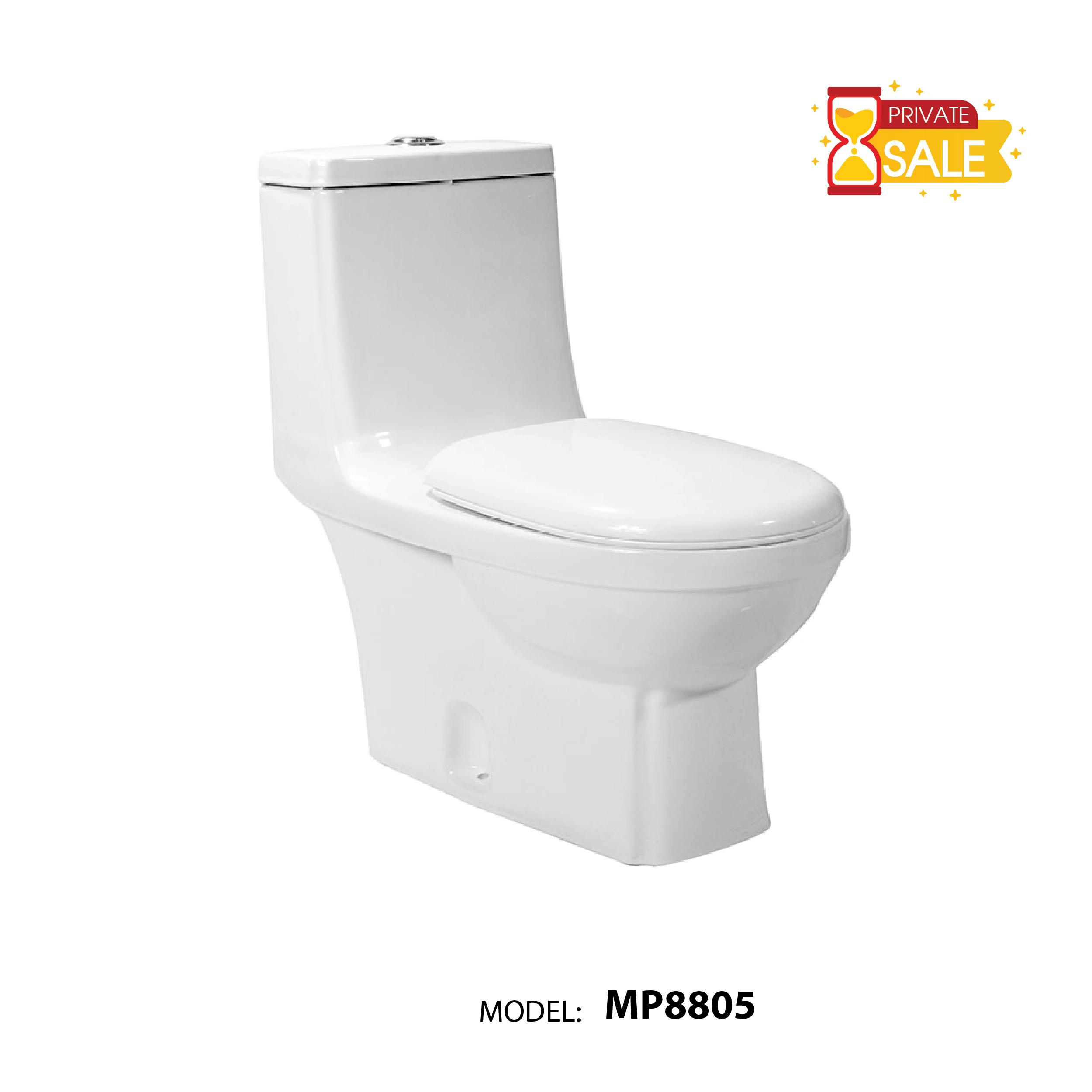 BỒN CẦU CARANO 1 KHỐI MP8805 ( Toilet model: MP8805 )