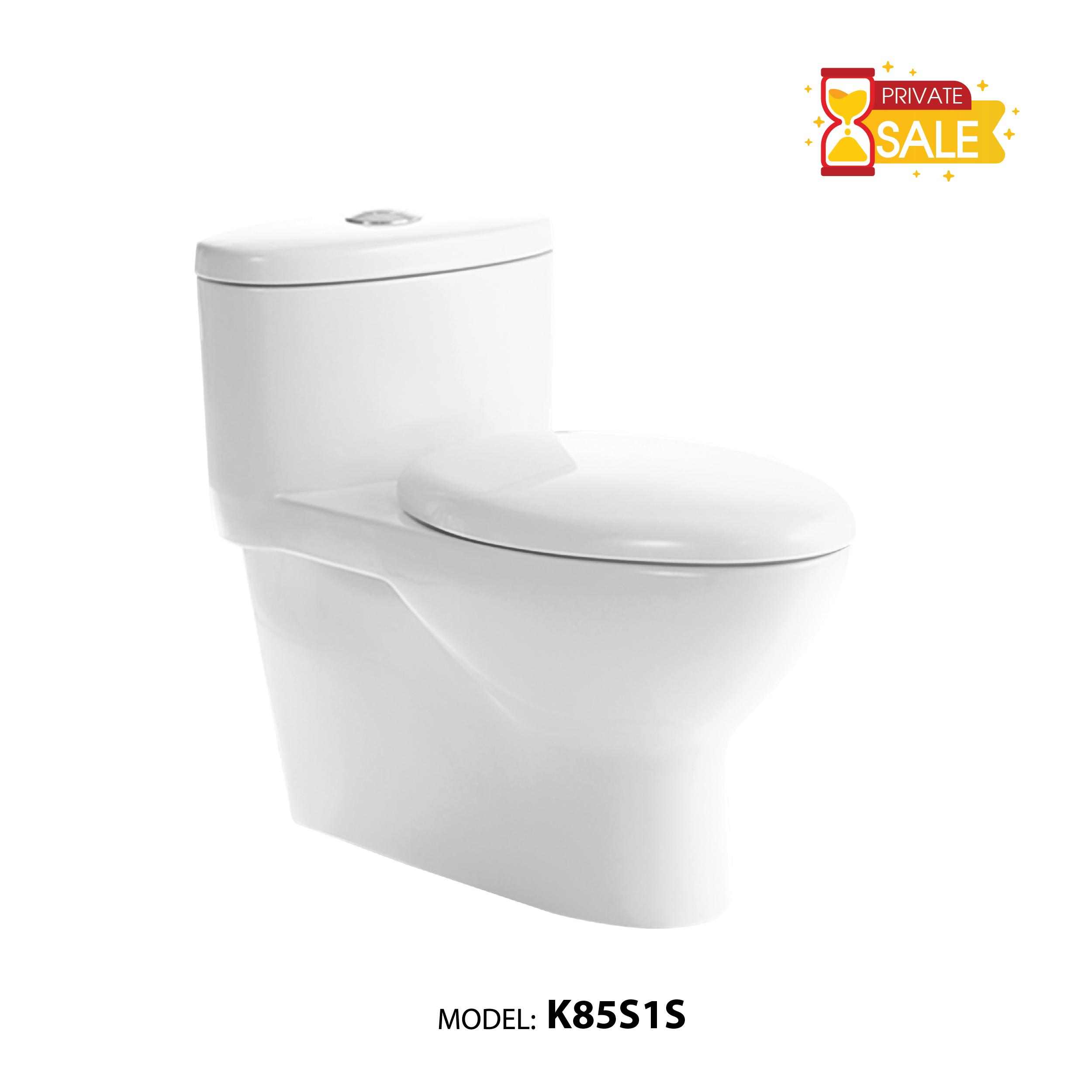 BỒN CẦU CARANO 1 KHỐI K85S1S ( Toilet model: K85S1S )
