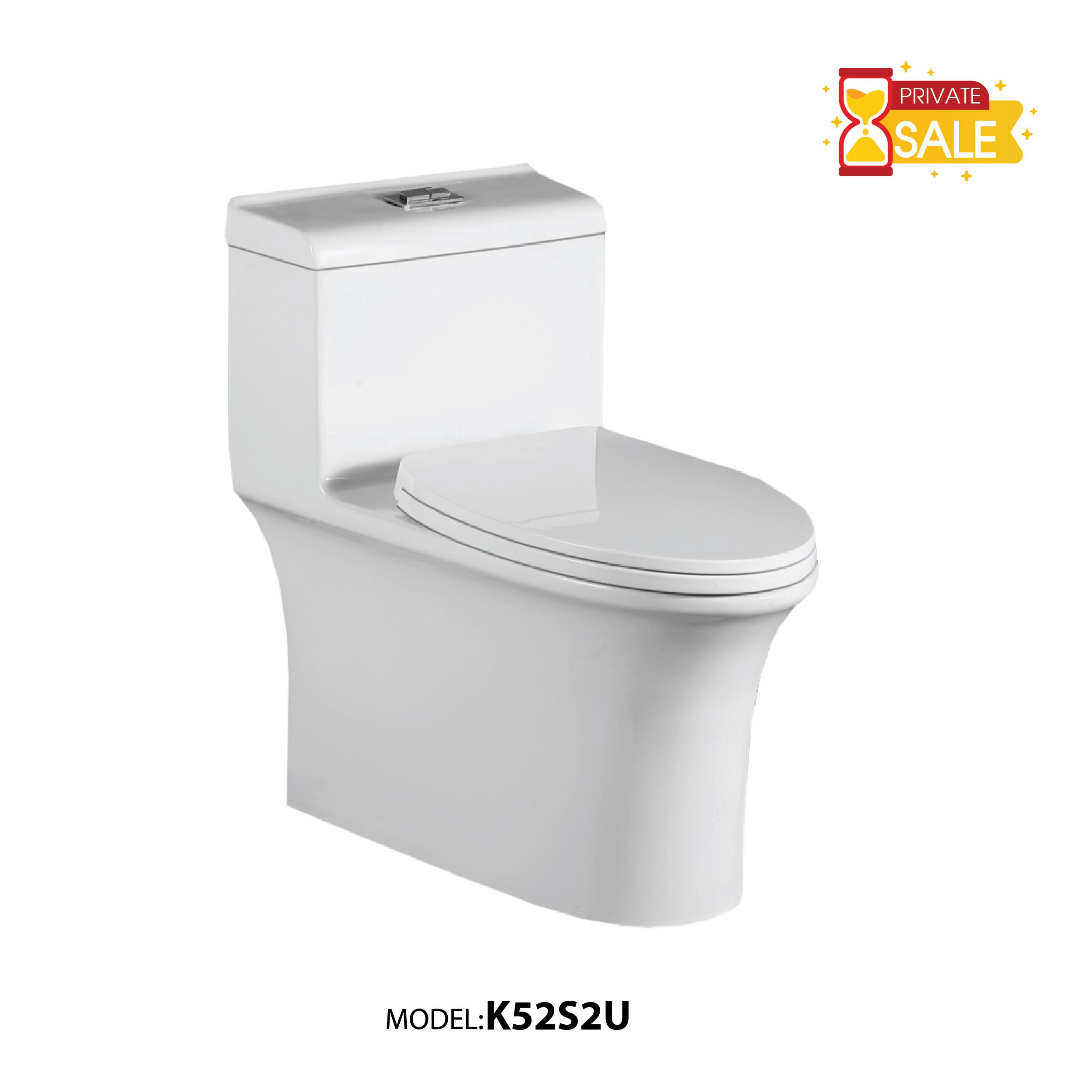 BỒN CẦU CARANO 1 KHỐI K52S2U (Toilet model: K52S2U)