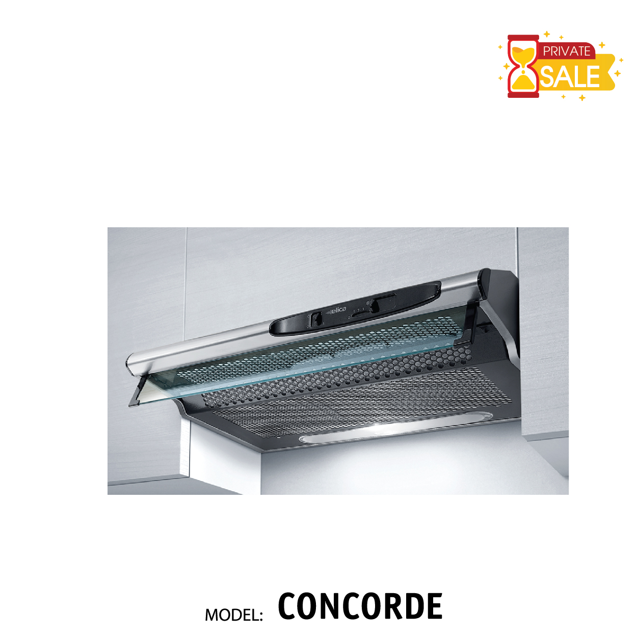 Máy hút mùi Elica - Model CONCORDE