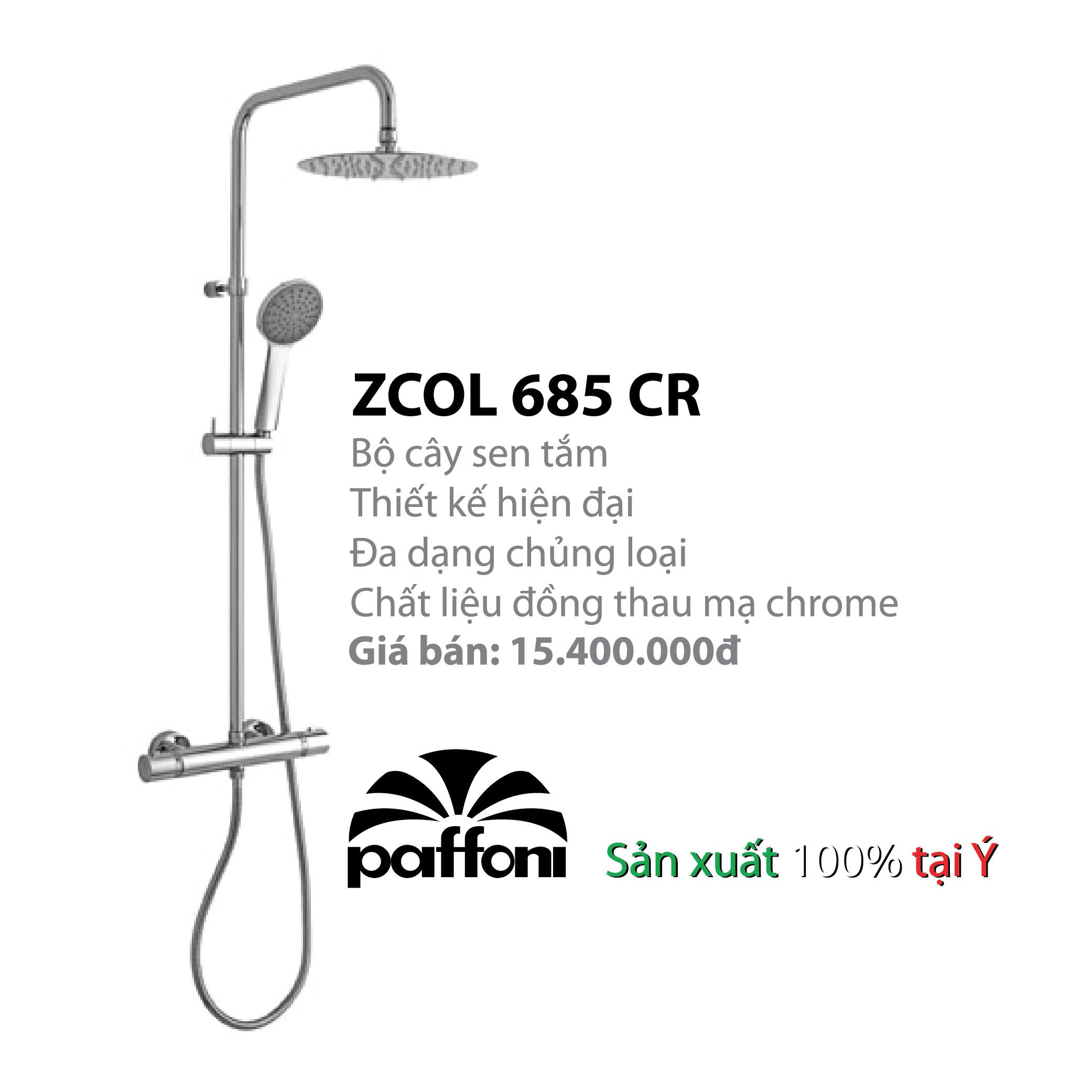 VÒI CÂY SEN NÓNG LẠNH PAFFONI ZCOL685CR (Vòi cây sen model:ZCOL685CR)