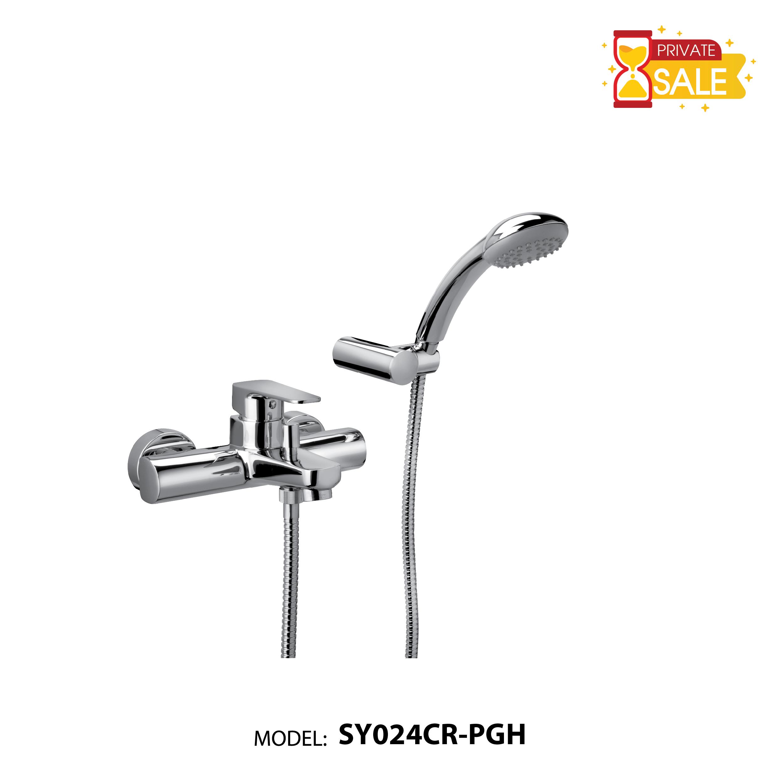 VÒI TẮM BỘ SEN GẮN TƯỜNG MODEL SY024CR-PGH