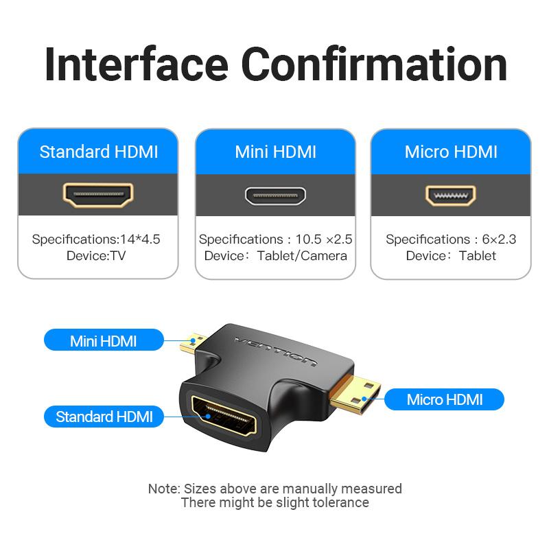 Đầu chuyển Micro/Mini HDMI ra HDMI Vention