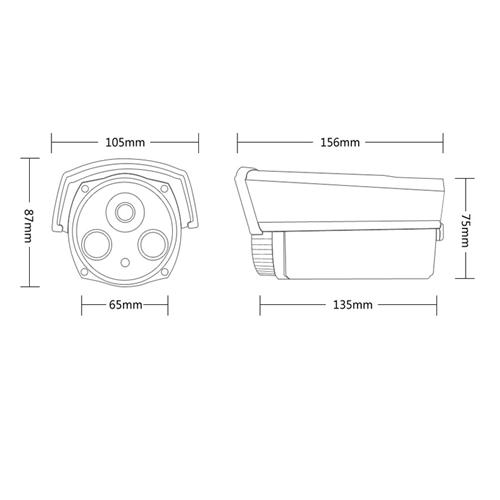 Camera HD trụ hồng ngoại 4MP AVone AV-A400R2A