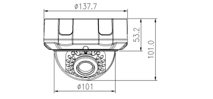 Camera Ip bán cầu hồng ngoại 4MP AVone AV-IPC4005R01