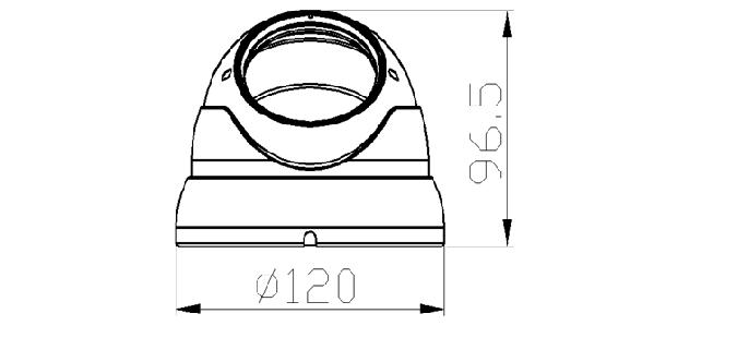 Camera HD bán cầu hồng ngoại 4MP AVone AV-A400R4B