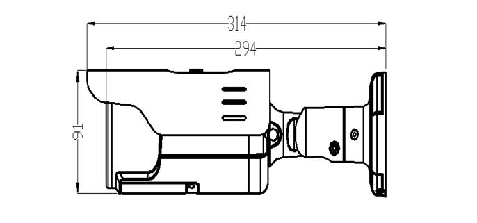 Camera HD trụ hồng ngoại 4MP AVone AV-A400R304B