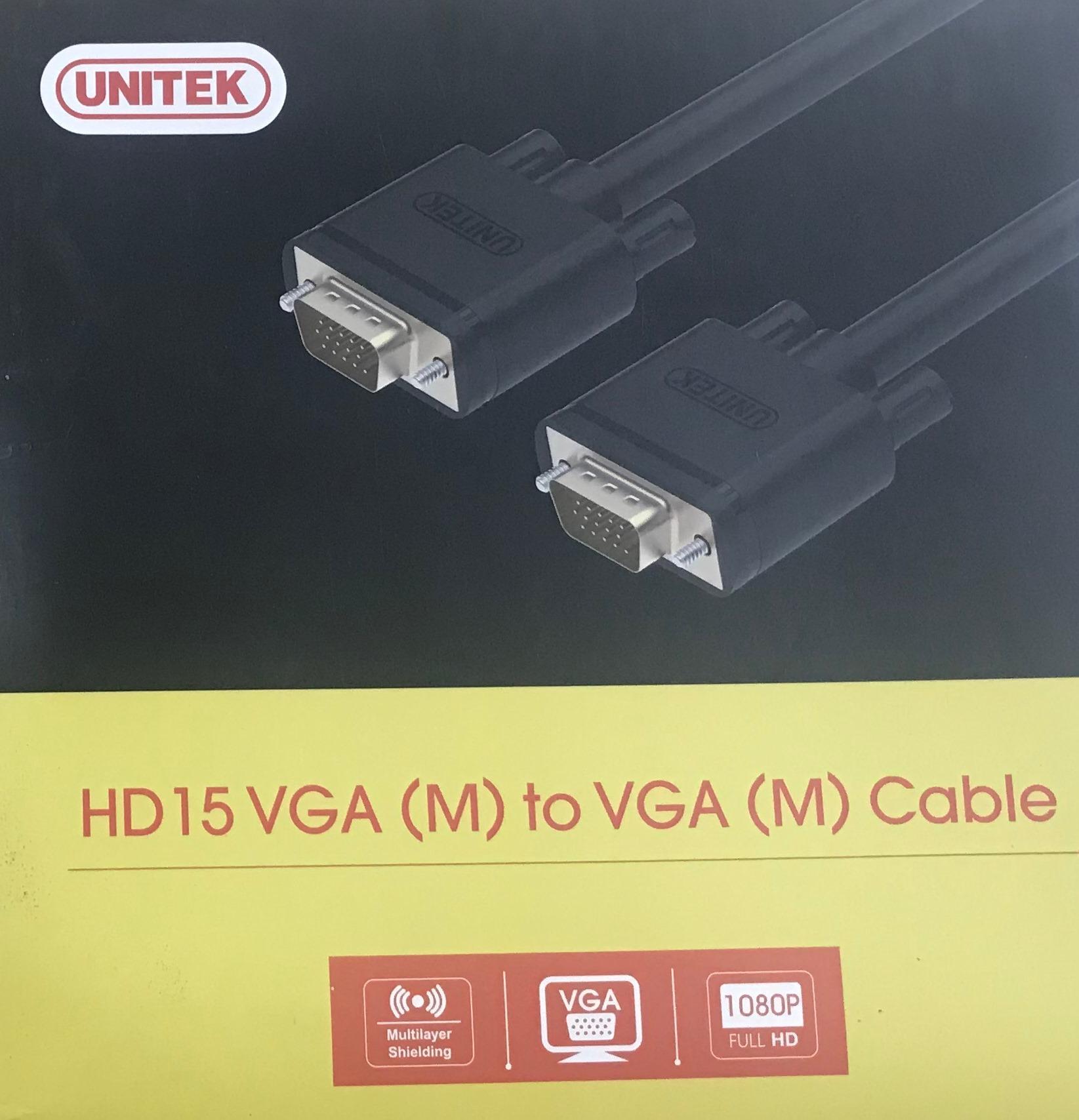 Cáp VGA Unitek 5m chống nhiễu