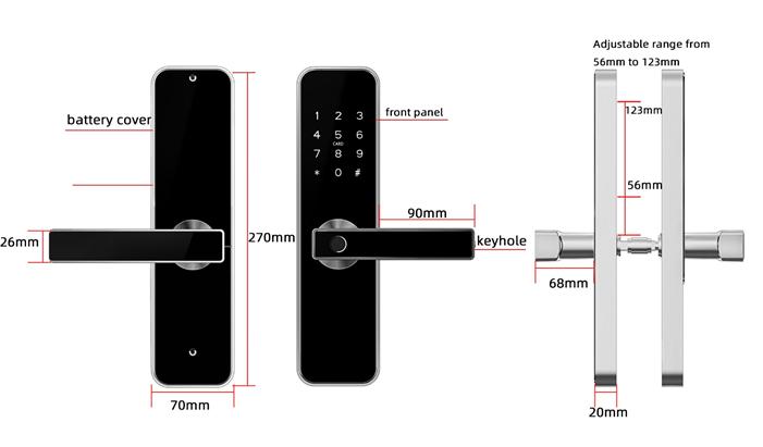Khóa Mật Mã VN-A13 điều khiển bằng điện thoại