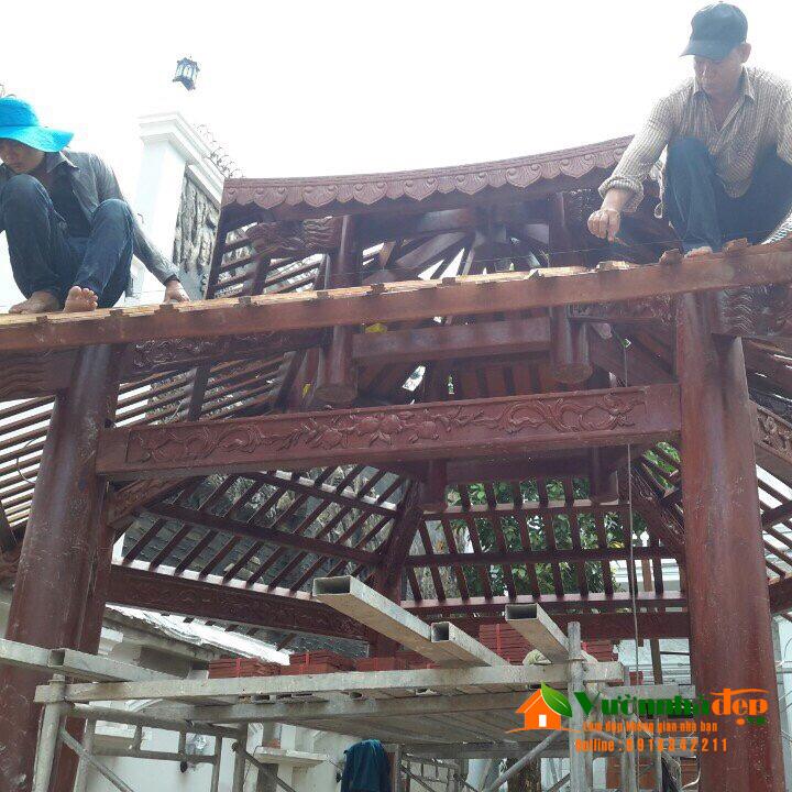 Thi công nhà gỗ lục giác