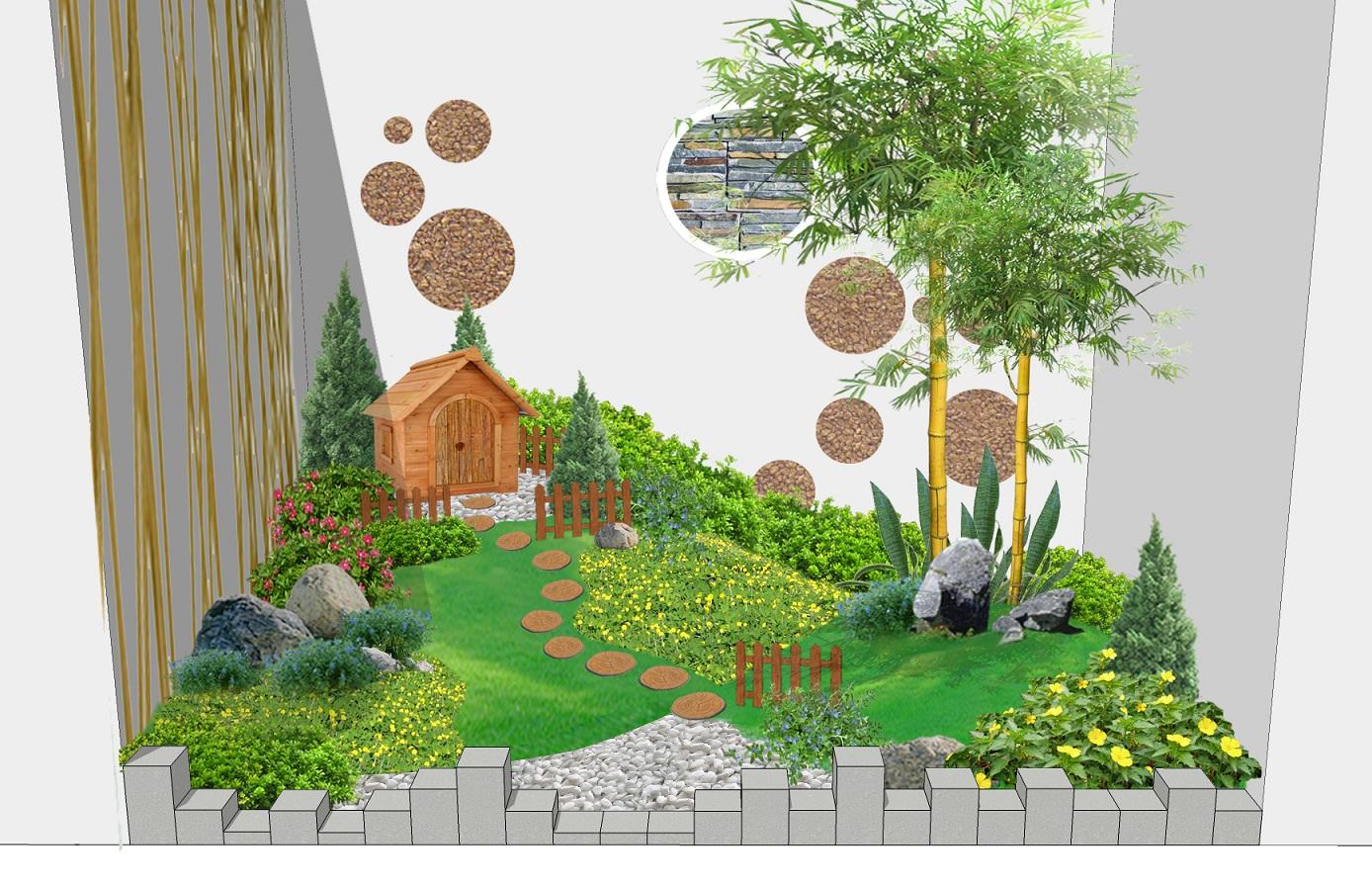 Tiểu cảnh sân vườn đẹp 2020 trên sân thượng