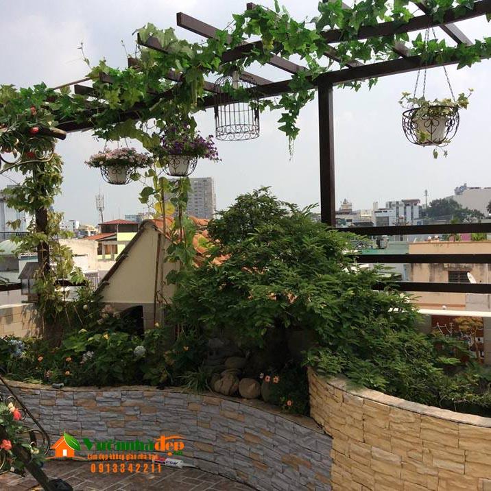 Bảo hành sân vườn trên mái