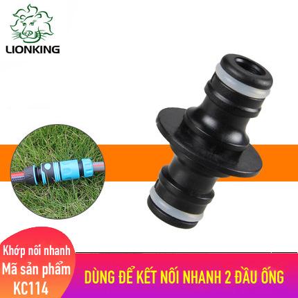 Khớp nối nhanh LionKing KC114 - dùng để kết nối nhanh 2 đầu ống nước