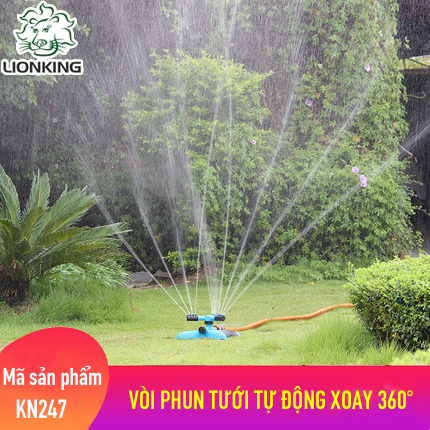 Vòi tưới cây xoay tròn, tự động xoay 360° LionKing KN247
