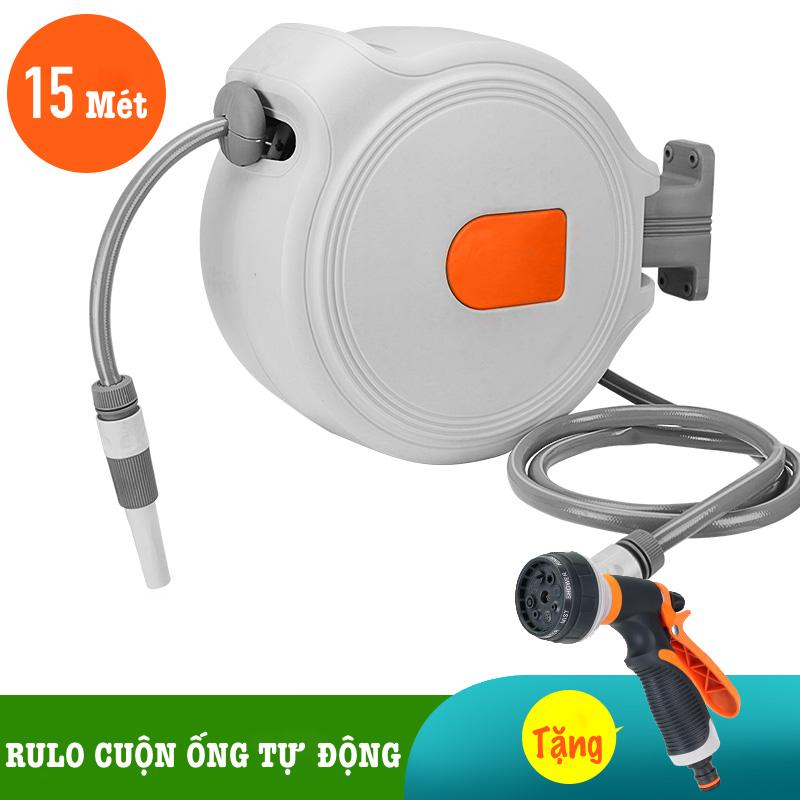 Bộ vòi rửa xe, tưới cây LionKing 15 mét NW-B15 (PHIÊN BẢN THƯỜNG) - Rulo thu cuộn ống nước tự động