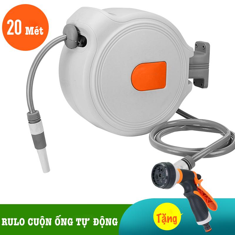 Bộ vòi tưới cây, rửa xe LionKing 20 mét NW-B20 (PHIÊN BẢN THƯỜNG) - Rulo thu cuộn ống nước tự động