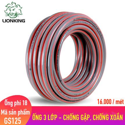 Ống nước LionKing  GS125 - phi 18, kết cấu 3 lớp chống gập, chống xoắn